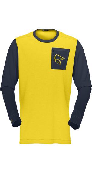 Norrøna M's Fjörå Equaliser Lightweight Long Sleeve Mellow Yellow